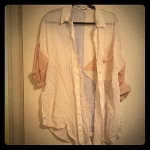 Free People Buttondown top